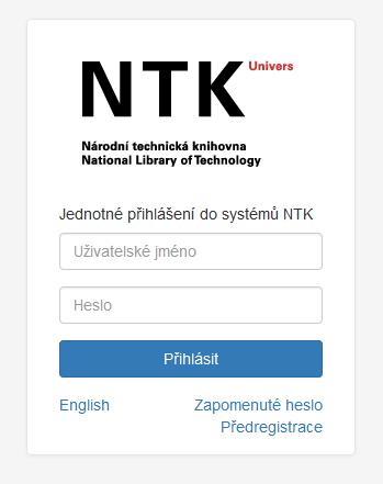 ednotne prihlaseni do systemu NTK